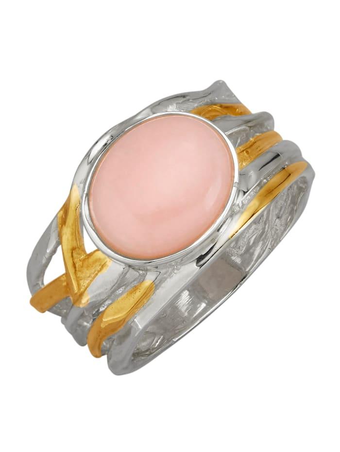 Amara Pierres colorées Bague dorée, Rose