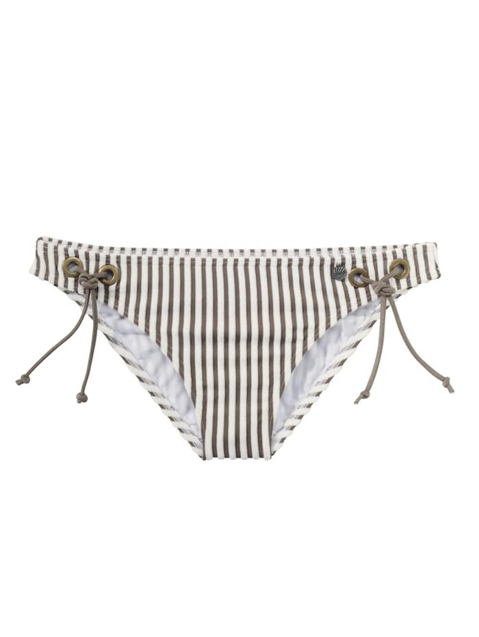 BEACHLIFE Bikinislip, Weiß/Braun