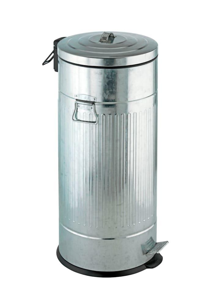 Wenko Treteimer New York Easy Close 30 Liter, Absenkautomatik, Matt, Einsatz: Schwarz