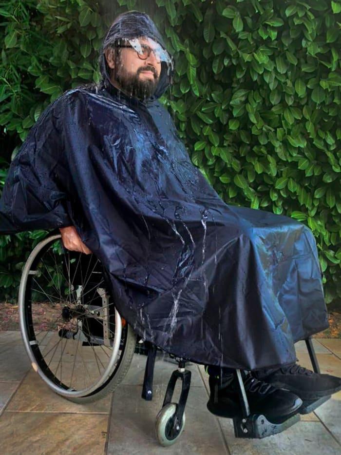 Wellys Rollstuhl-Regencape, Blau