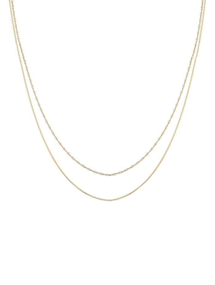 Halskette 2Er Set Basic Venezianer Kette Gedreht 925 Silber