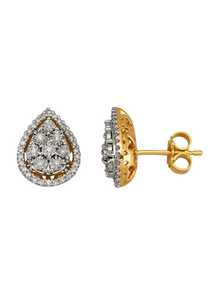 Diemer Diamant Ohrstecker mit Diamanten und Brillanten, Weiß