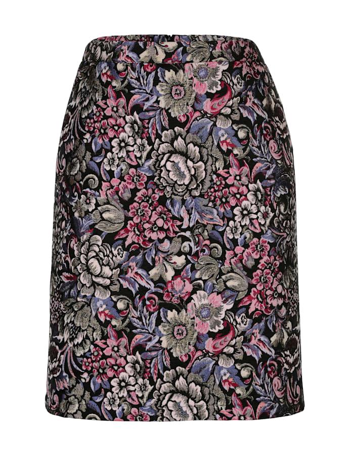AMY VERMONT Rock aus floralem Jacquard, Multicolor