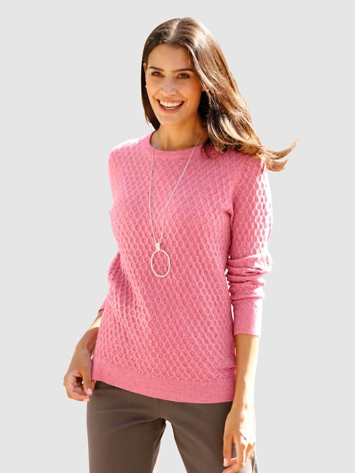 Dress In Trui met mooie structuur, Pink