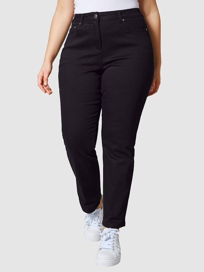 Janet & Joyce Jeans som håller in magen, Black