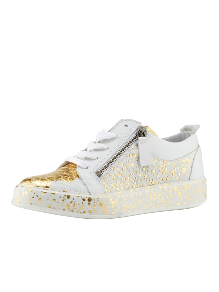 ROCKGEWITTER Sneaker in metallic look, Wit