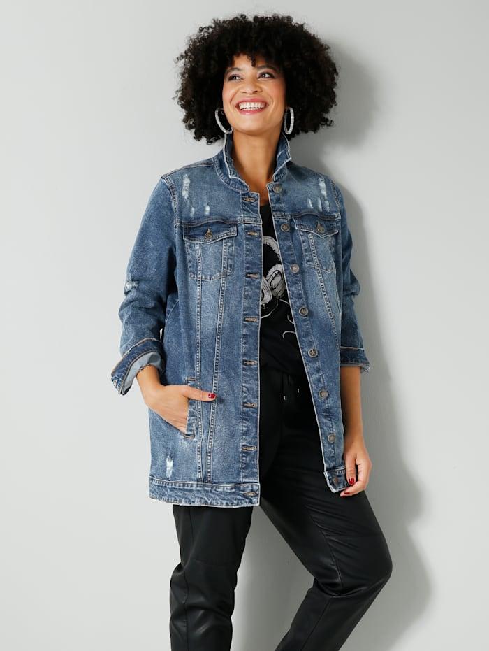 Angel of Style Jeansjacke oversized geschnitten, Blue stone