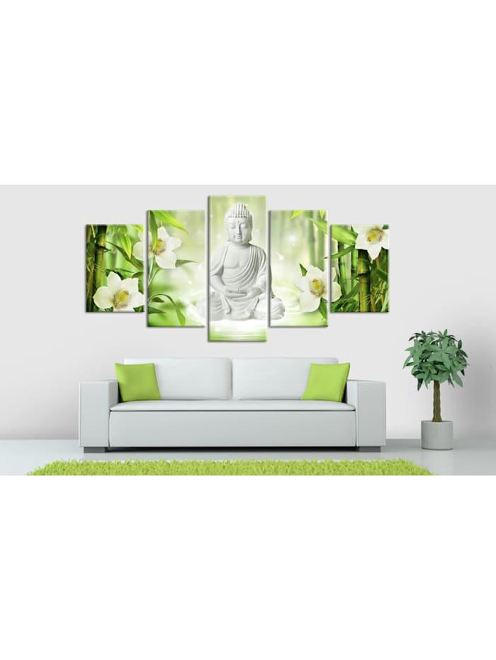 Wandbild Buddha and jasmine