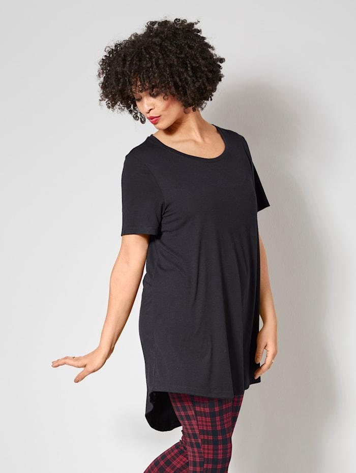 Angel of Style Longshirt met iets langere achterkant, Zwart