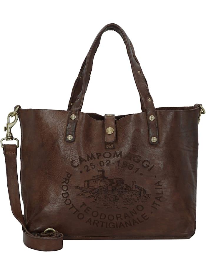 Campomaggi Shopper Tasche Leder 36 cm, moro