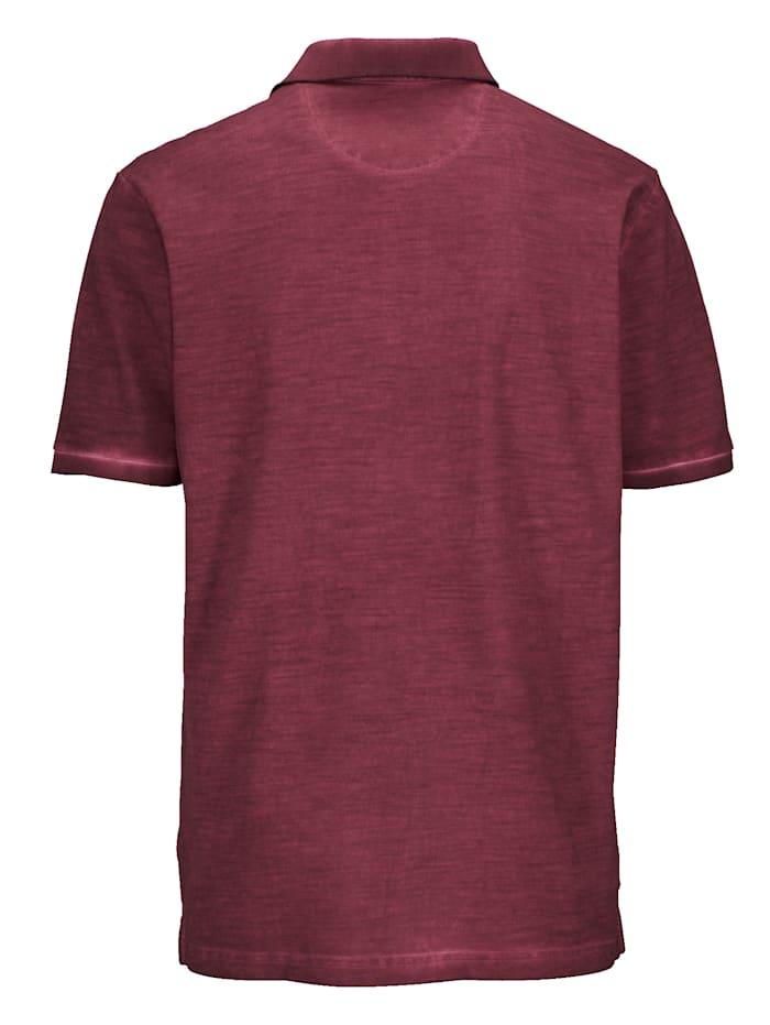 Poloshirt oily dyed