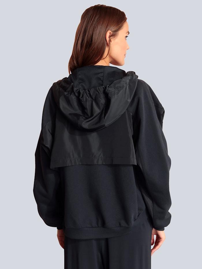 MARGITTES Sweatjacke im modischen Style, Marineblau