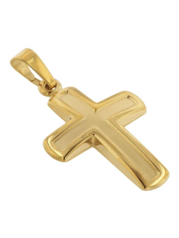 Kreuz-Anhänger 20 mm Gold 585 / 14 Karat