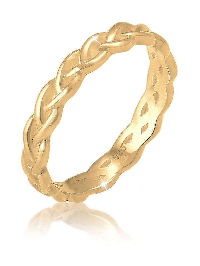 Elli Ring Knoten Twisted Trend Blogger Unendlich 925 Silber, Gold