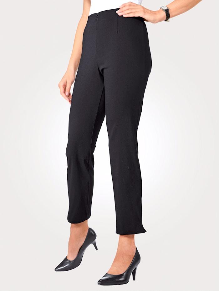 MONA Pantalon 7/8 en coton mélangé, Noir