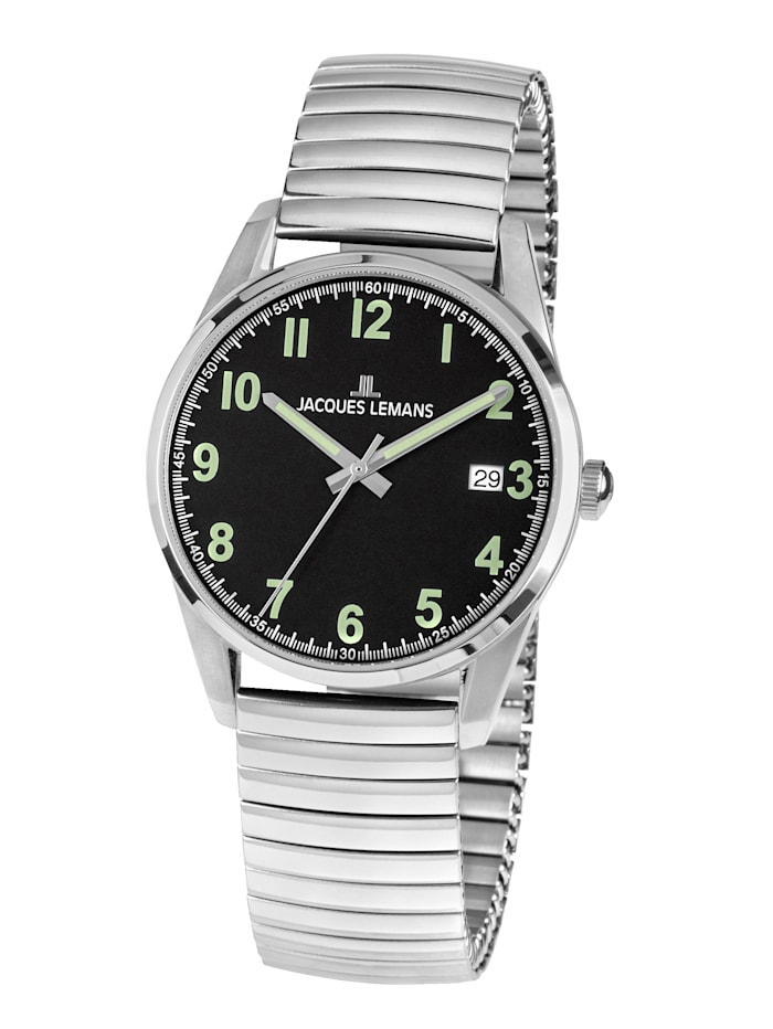 Jacques Lemans Herrenuhr Serie: Liverpool, Kollektion: Sport 1-2070E, Silberfarben