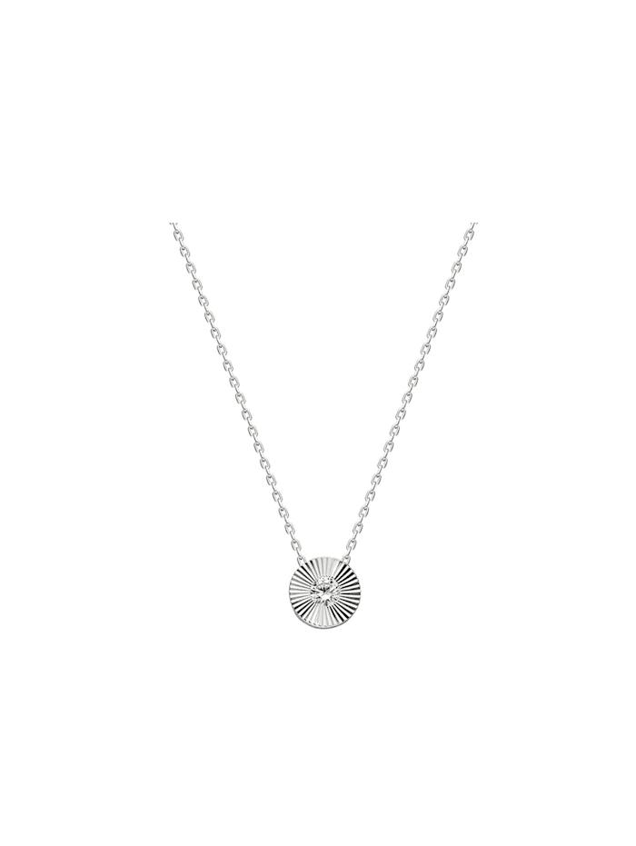 Dkeniz Silberkette Solitär Kette Silber, silber