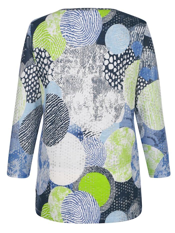 Pletené tričko s grafickým vzorom