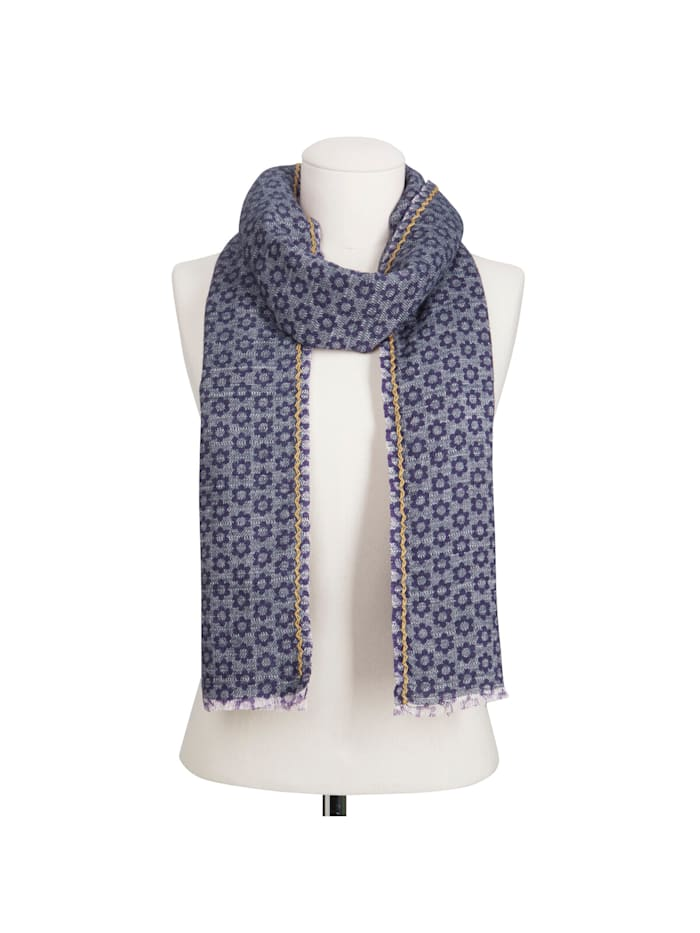 Premium Schal mit exklusivem Flower-Print – Made in Italy