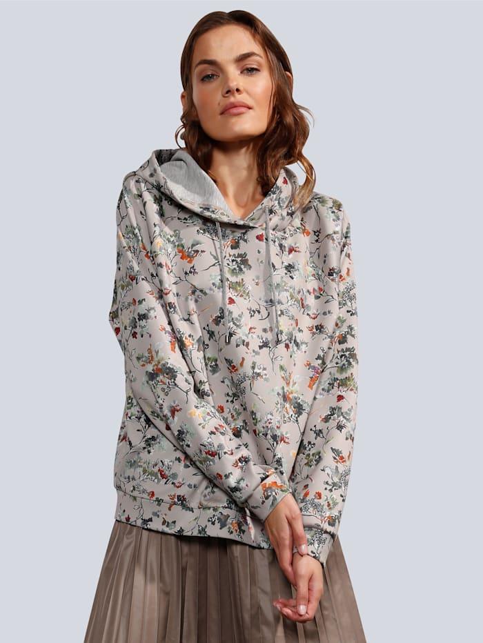 MARGITTES Sweatshirt im farbharmonischem Blumenprint, Vanille