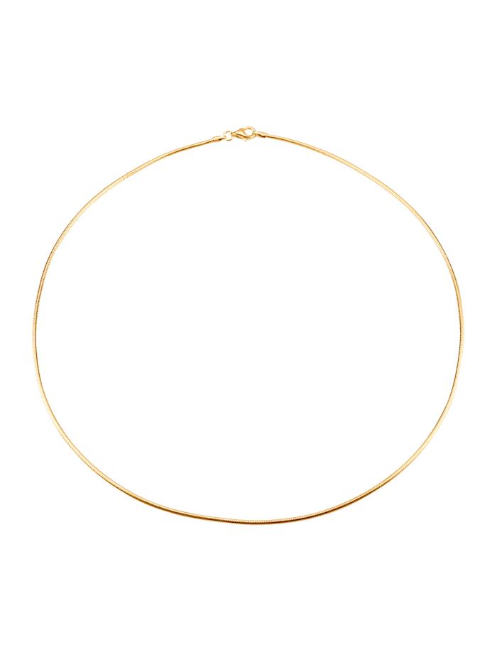 Schlangenkette in Silber 925 vergoldet, Gelbgoldfarben