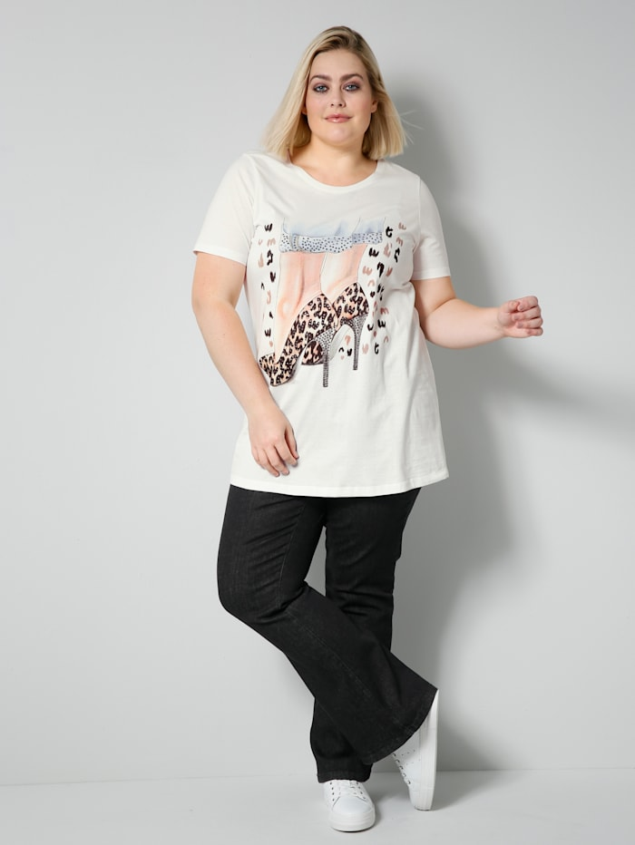 Angel of Style Jeans in bootcut-model, Black