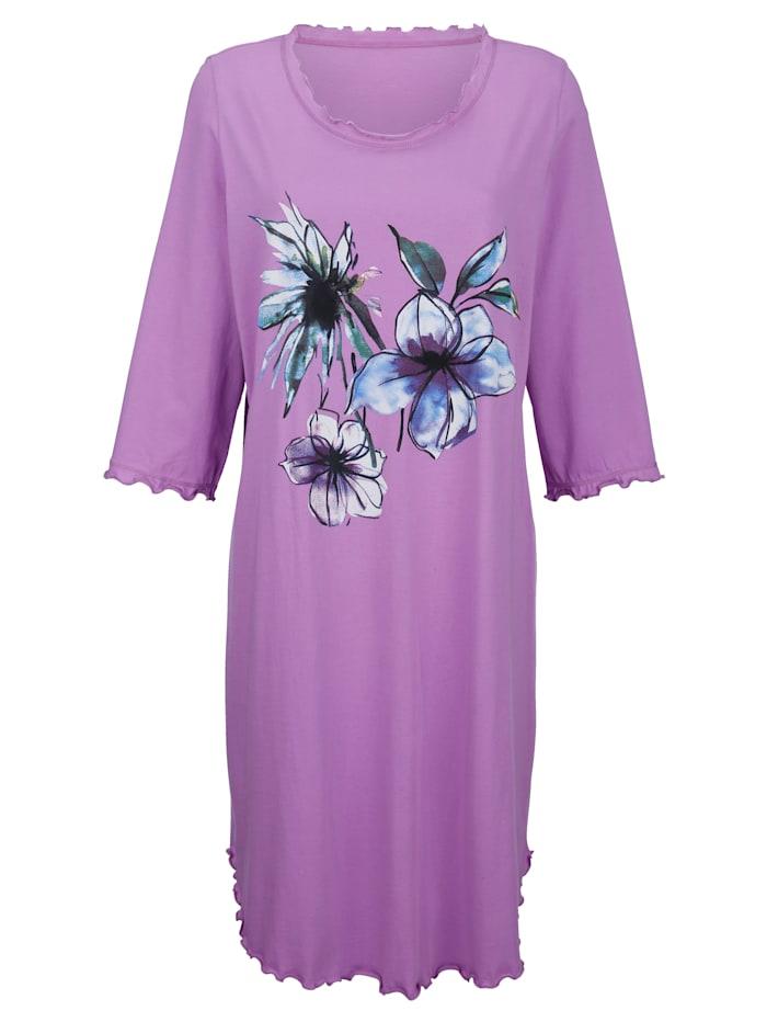 Harmony Nachthemd met charmante geschulpte zomen, Fuchsia