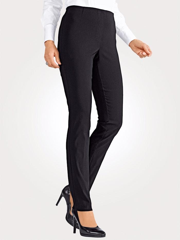 MONA Pantalon en matière extensible, Noir