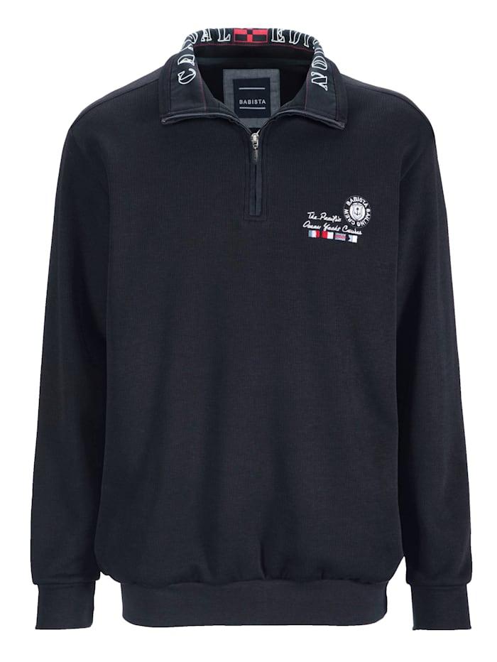 BABISTA Sweatshirt mit modischem Druck im Kragen, Marineblau