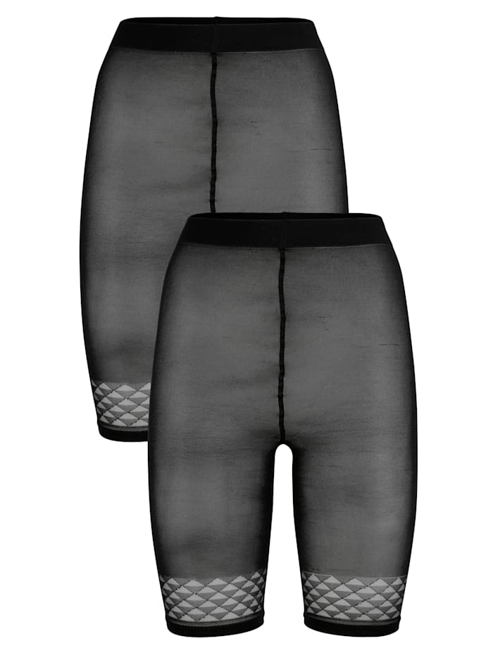 Korte legging met trendy randje aan de zomen