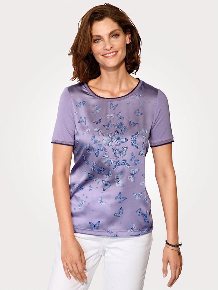 T-shirt à motif imprimé papillons
