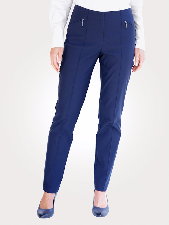 MONA Pantalon à poches zippées, Marine