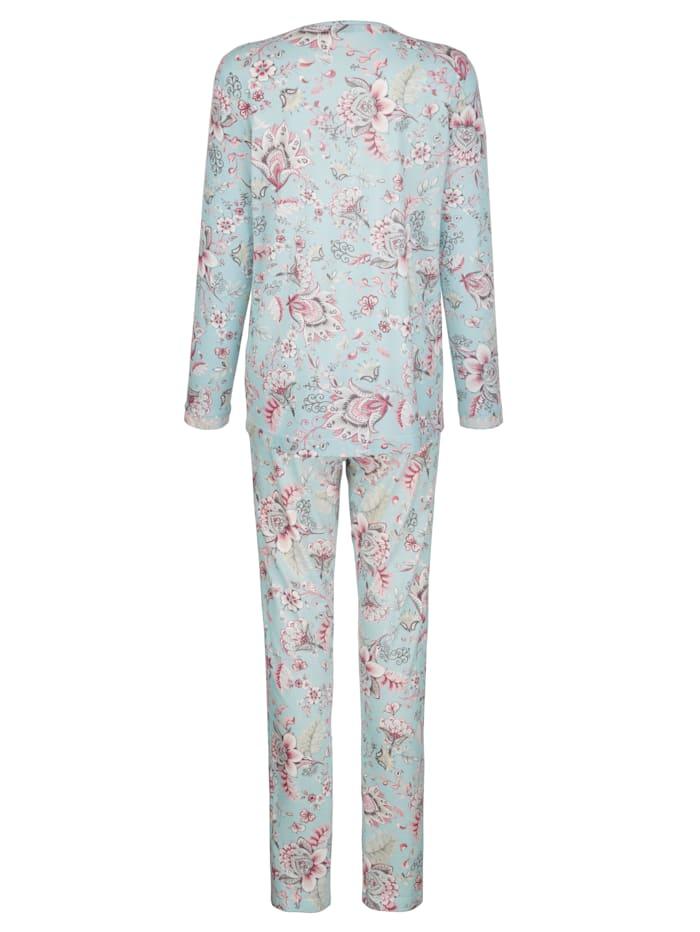 Schlafanzug mit filigranen Spitzendetails