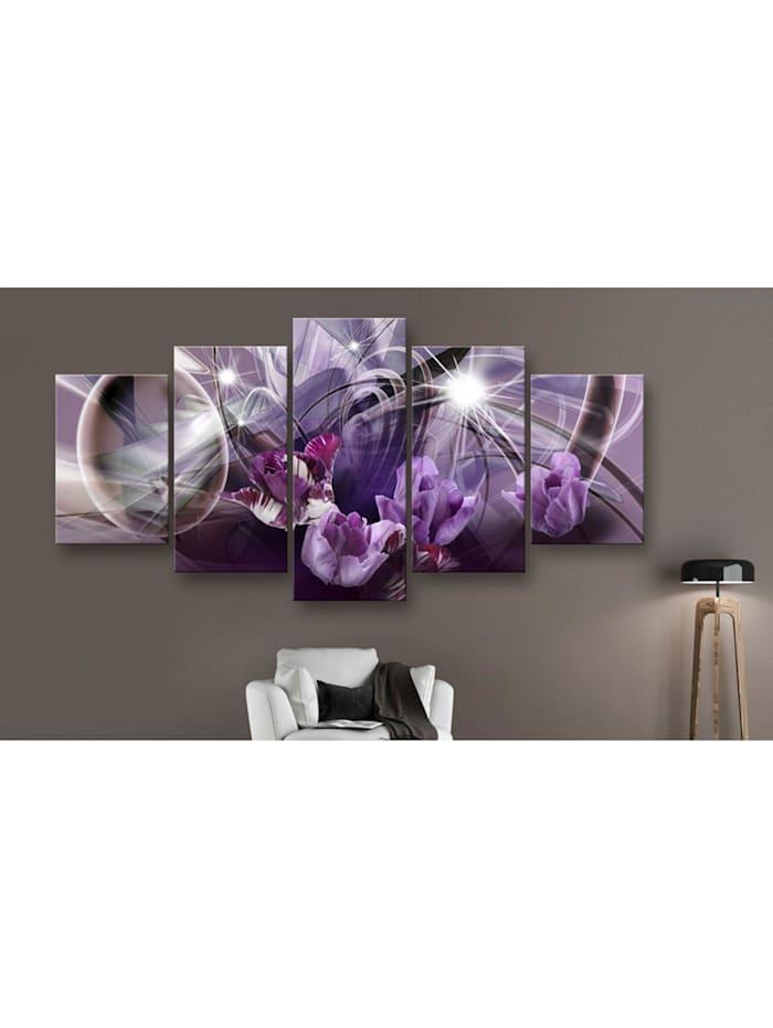 Wandbild Purple of tulips