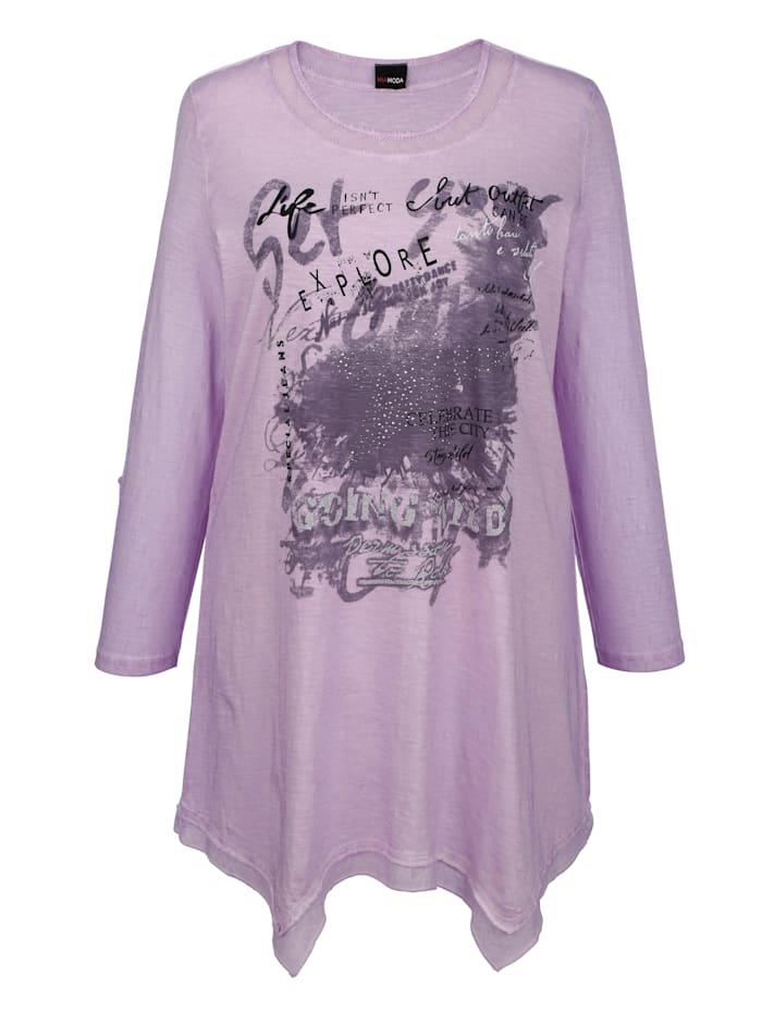 T-shirt à pointes à empiècements en mesh