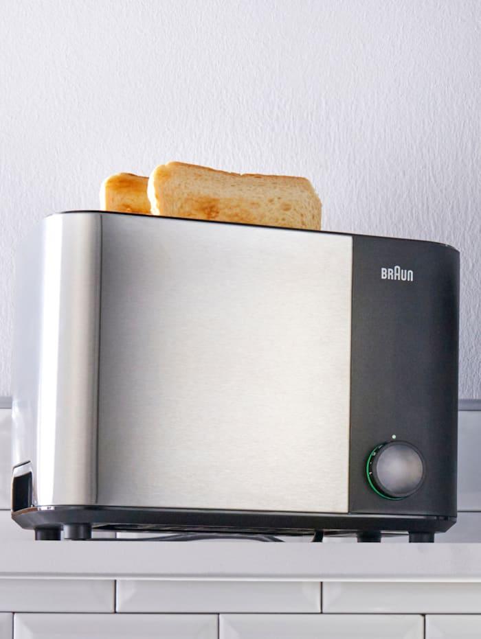 Braun Doppelschlitz-Toaster ID Collection HT 5010 BK, Schwarz