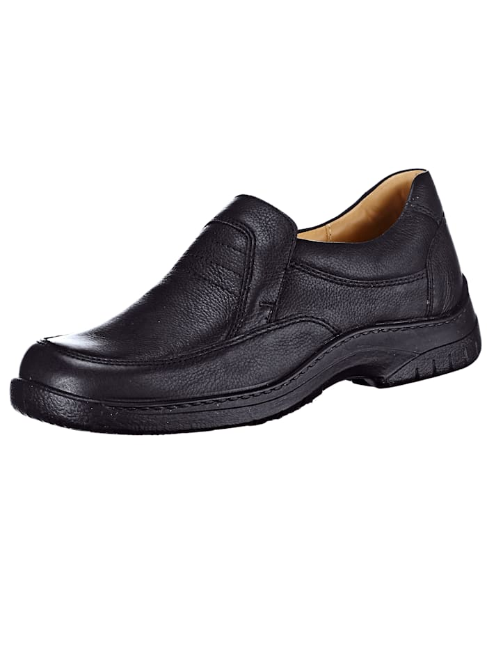 Jomos Slipper in eleganter Optik, Schwarz