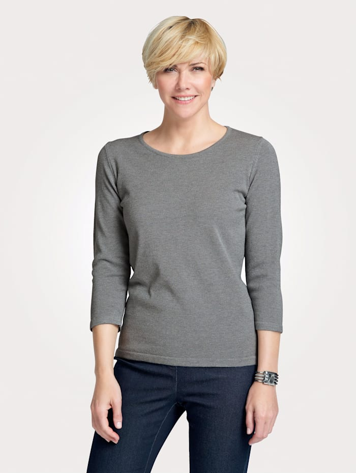 MONA Pullover in Traumhaft-Qualität, Grau