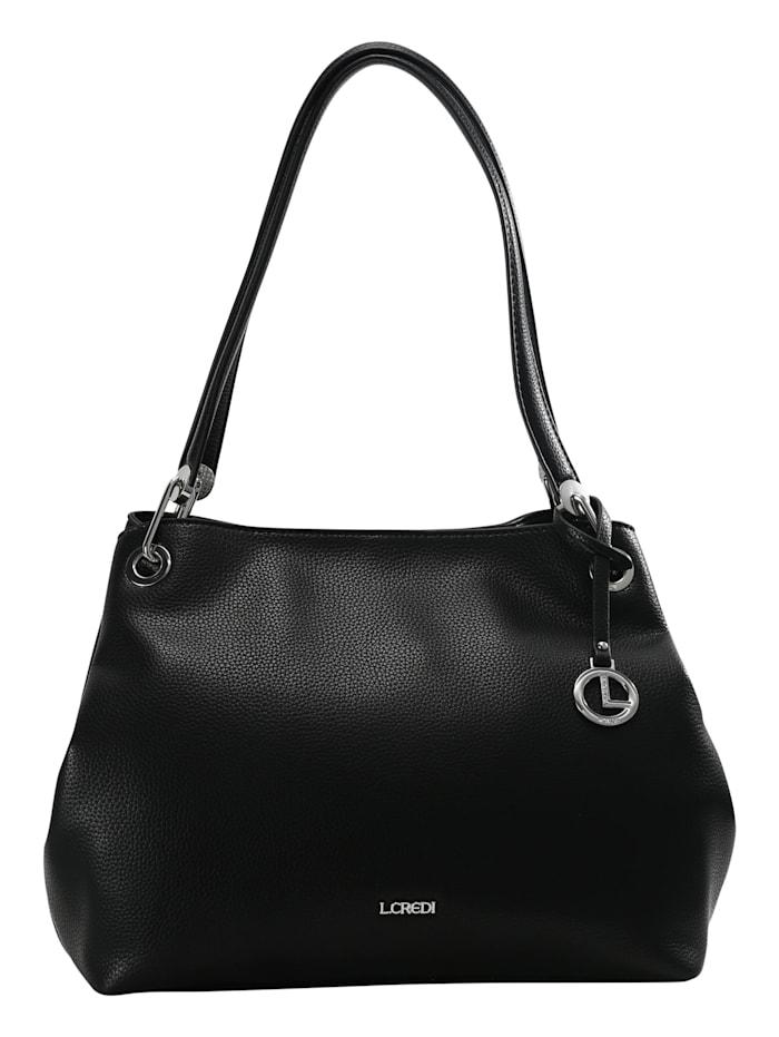 L.Credi Shopper Ebony, schwarz