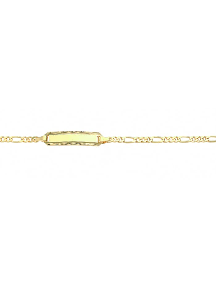 1001 Diamonds Damen Goldschmuck 333 Gold Figaro Armband 14 cm Ø 2,1 mm, gold