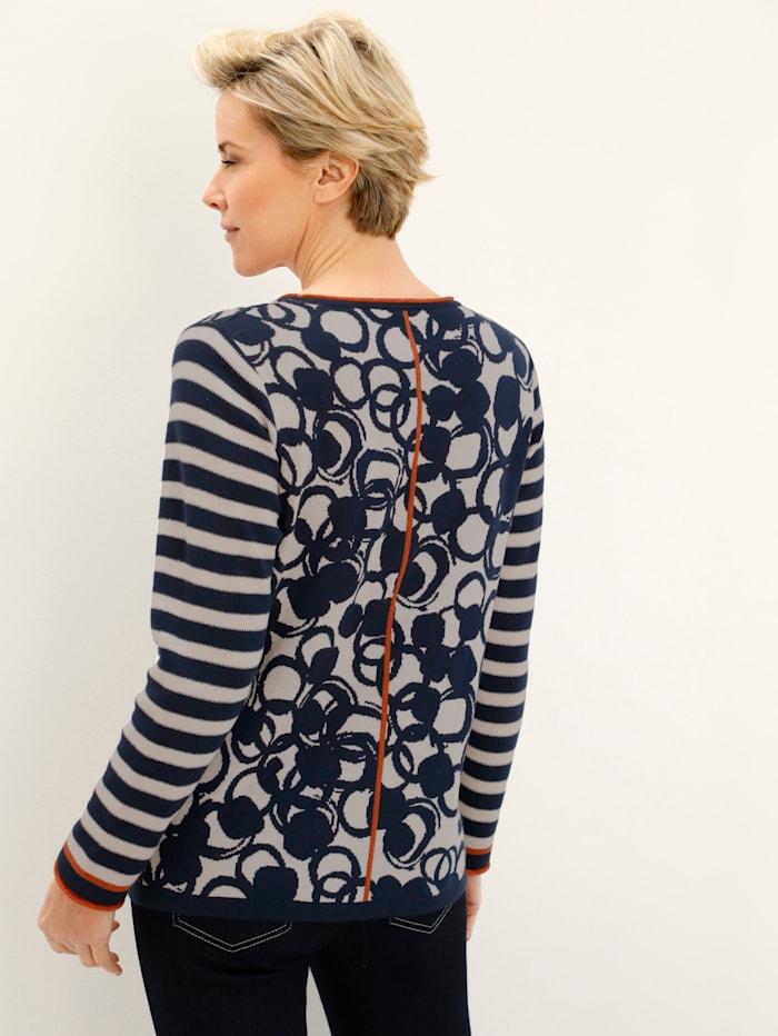 Pullover mit grafischem Jacquardmix