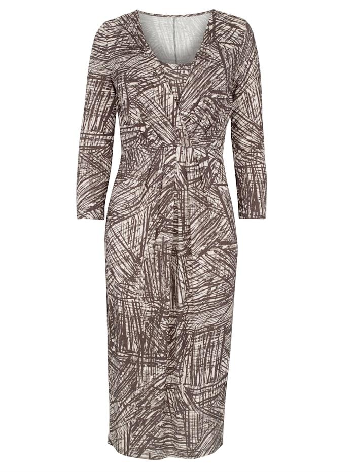 Jerseykleid mit einem abstrakten allover Druck