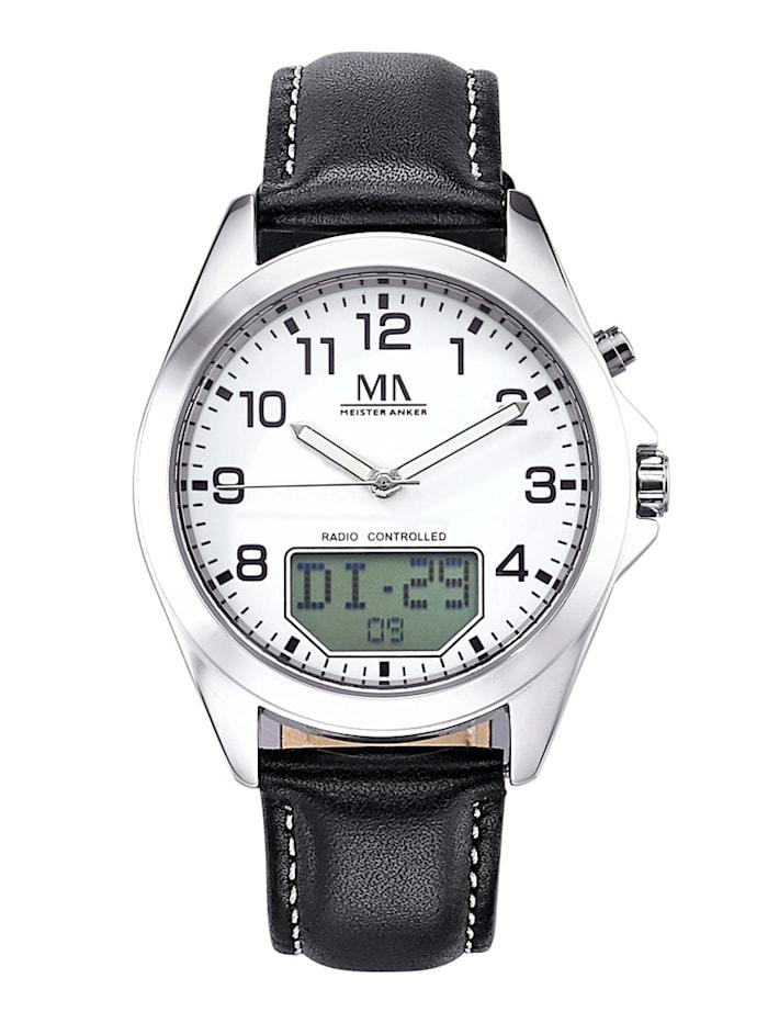 Meister Anker Pánské hodinky s digitálním ukazatelem, Černá