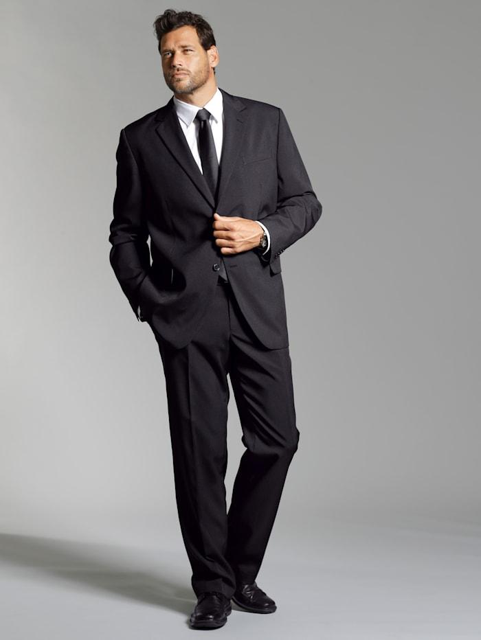 Men Plus Spezialschnitt Anzugshose größenverstellbar, Schwarz