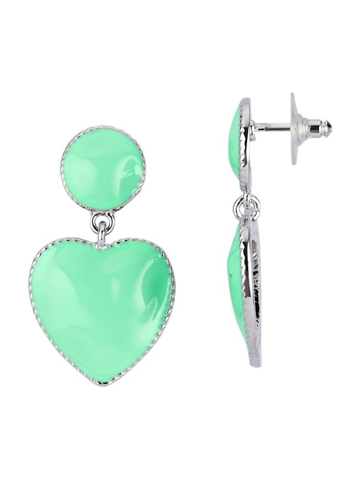 Vihreät sydänkorvakorut