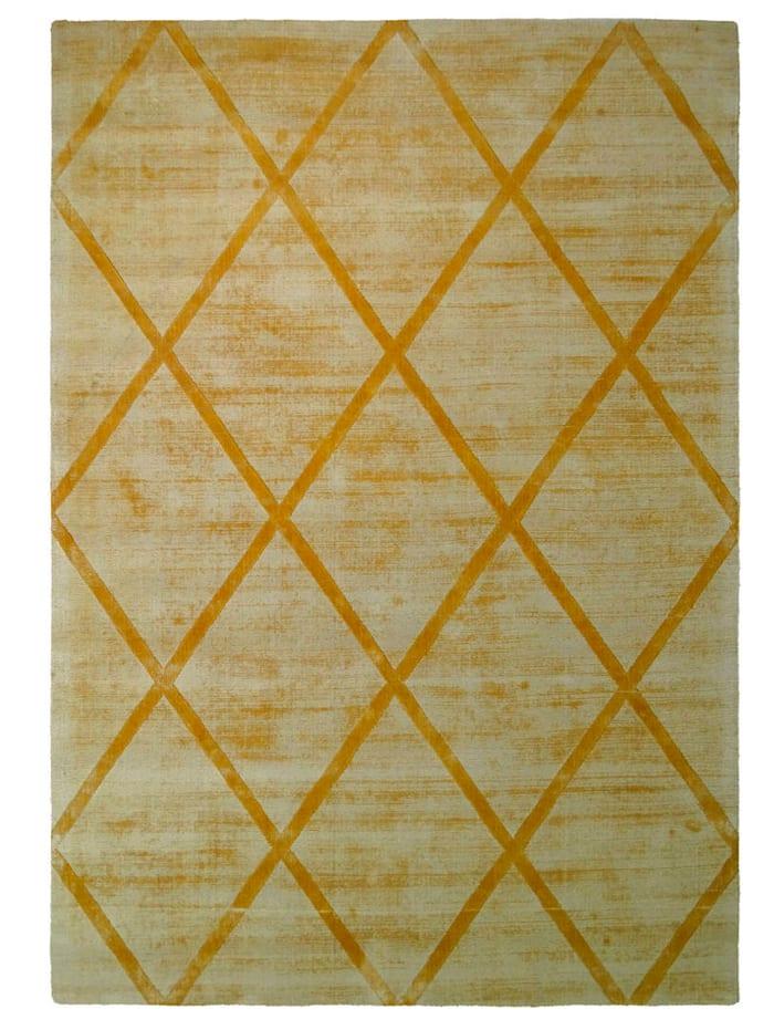 Kayoom Handwebteppich 'Paul', Gelb