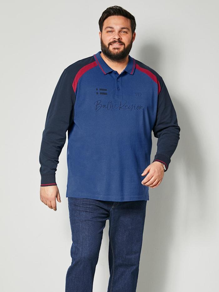 Men Plus Poloshirt aus reiner Baumwolle, Dunkelblau/Marineblau