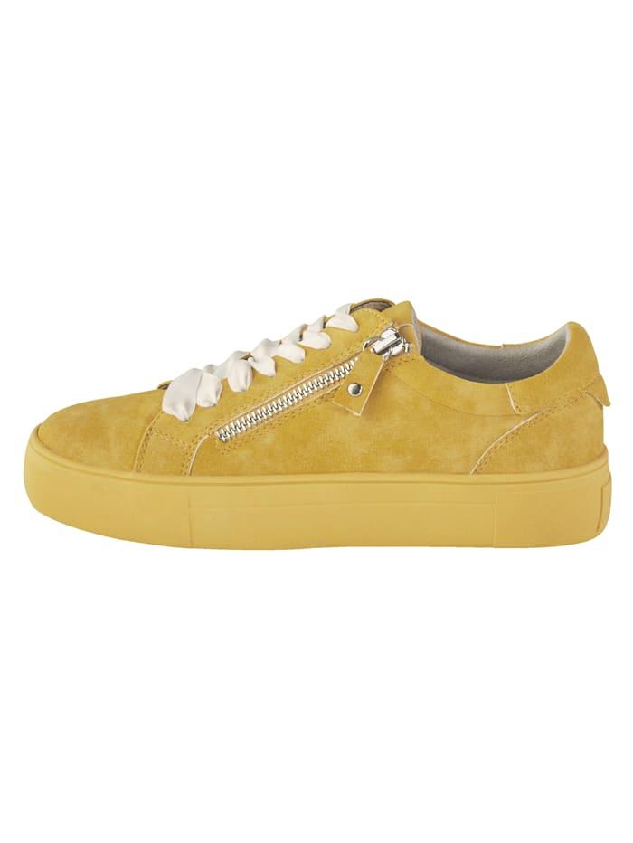 Sneakers à plateau à glissière côté