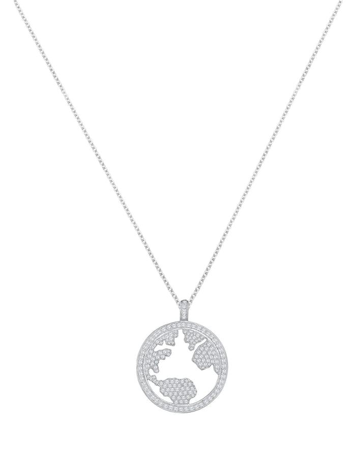 Halskette Welt Zirkonia Swarovski® Kristalle 925 Silber