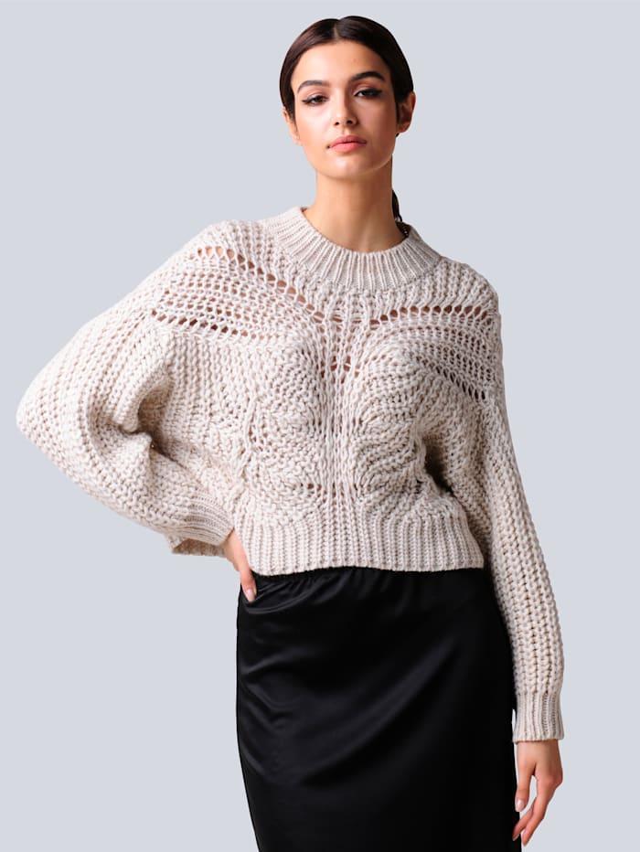 Alba Moda Pullover in kurzer Form, Off-white